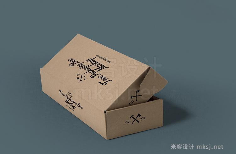 VI贴图 长方形长方体包装纸盒PS模型mockup样机