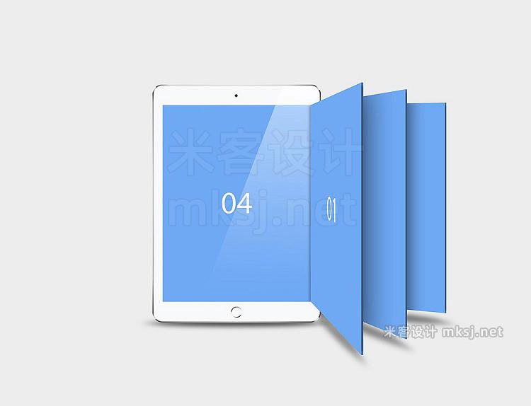 VI贴图 iPad平面设计UI展示PS样机mockup样机
