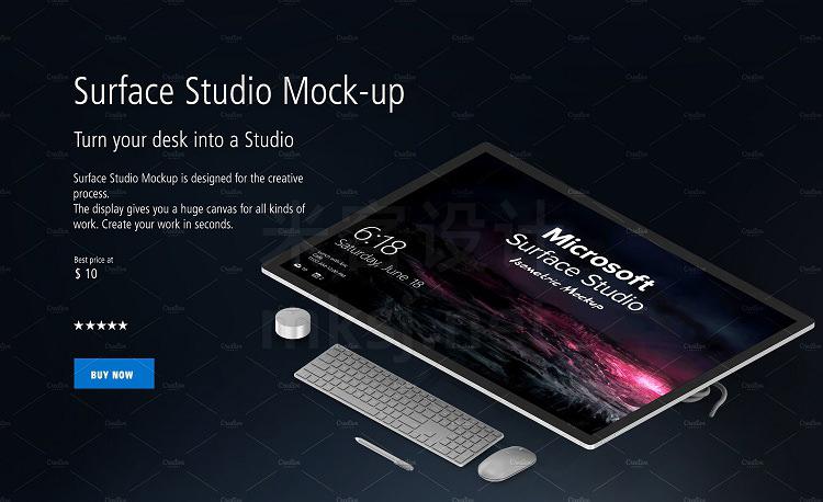 VI贴图 微软平板电脑 Microsoft Studio PS模型mockup样机