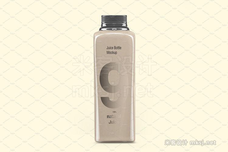 VI贴图 果汁瓶玻璃瓶PS模型mockup样机