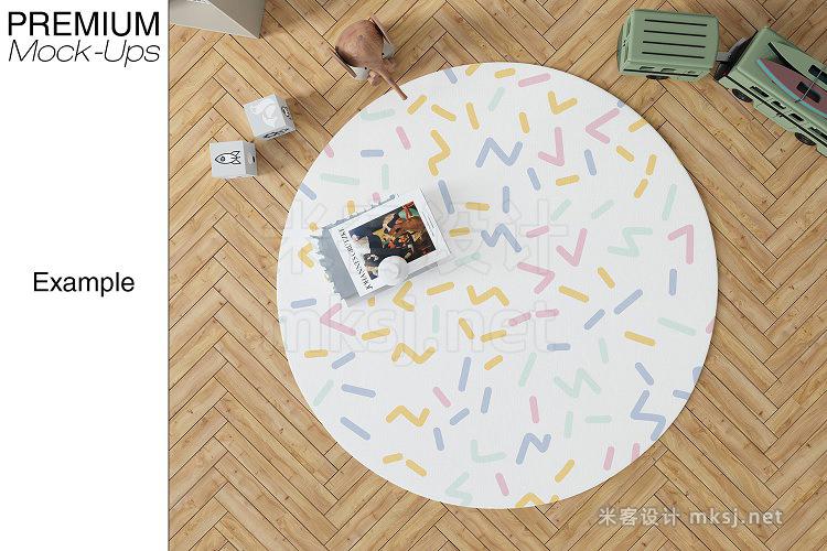 VI贴图 儿童房地毯卧室场景PS模型mockup样机