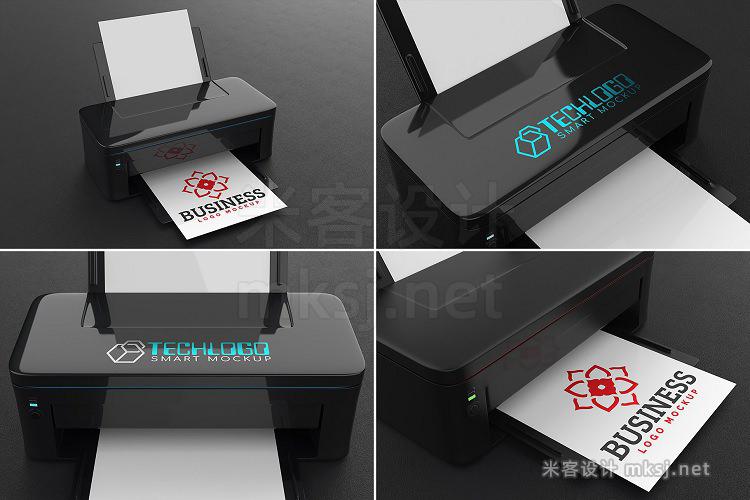 VI贴图 100款logo办公文具用品样机展示PS模型mockup样机
