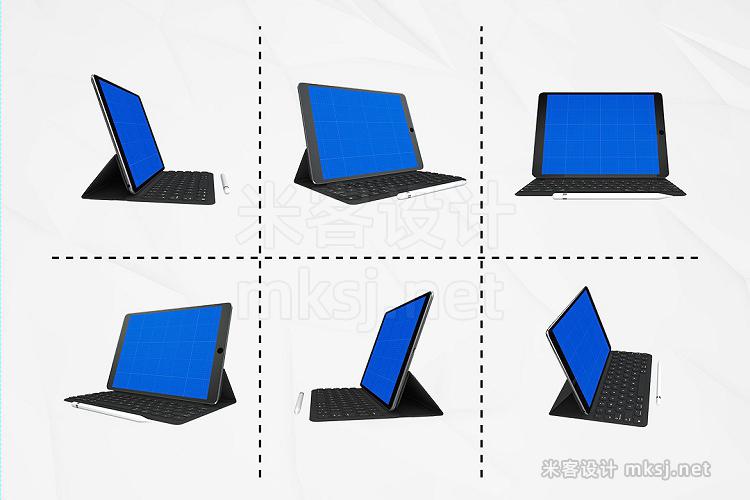 VI贴图 iPad Pro 平板电脑键盘 PS模型mockup样机