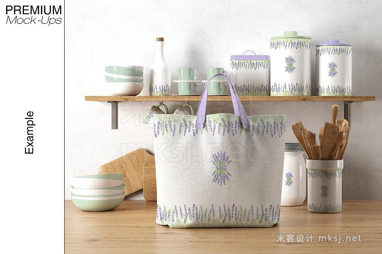 VI贴图 手提包帆布包陶瓷碗罐PS模型mockup样机
