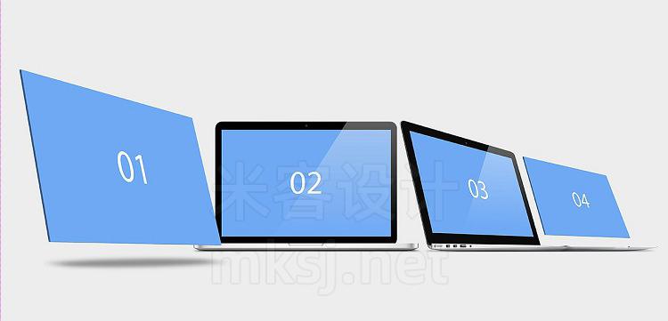 VI贴图 MacBook 网页设计web项目UI展示 PS模型mockup样机