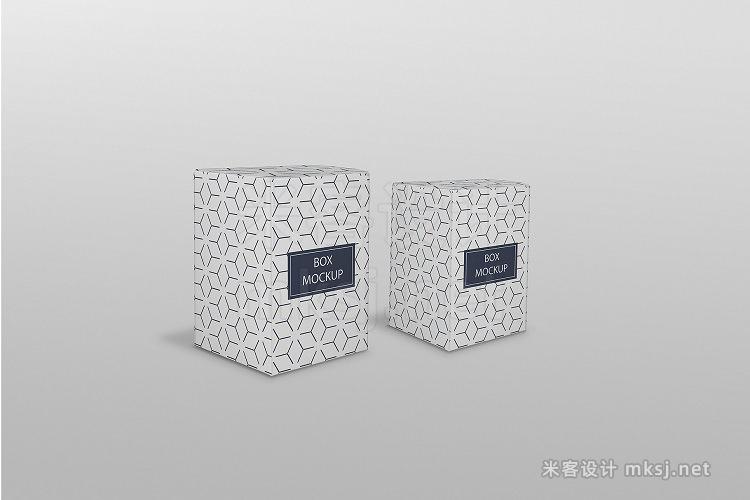 VI贴图 方形纸盒包装PS模型mockup样机