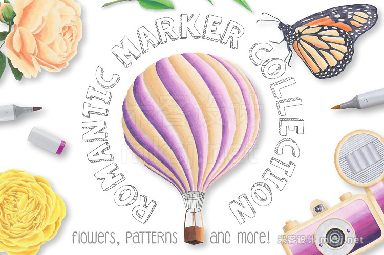 png素材 Romantic Marker Collection