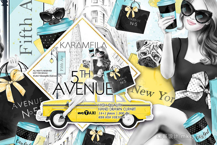 png素材 5th Avenue New York City Clipart