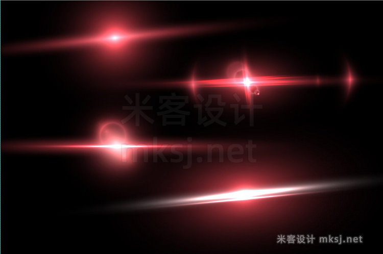 png素材 Vector Lens Flare Glow Effect