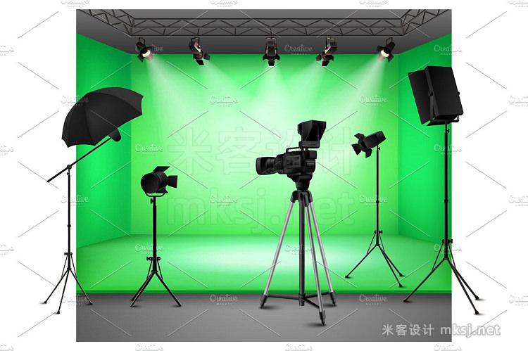 png素材 Realistic Studio Interiors