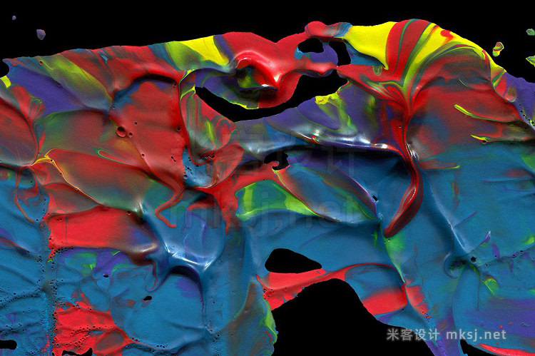 png素材 Abstract Paint Shapes