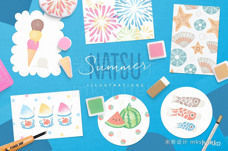 png素材 NATSU Summer Hanko Collection