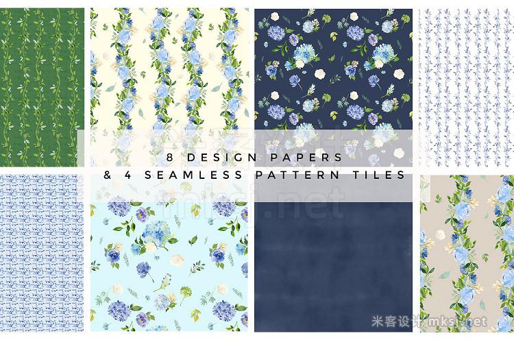 png素材 Serene - Flower Clipart Set