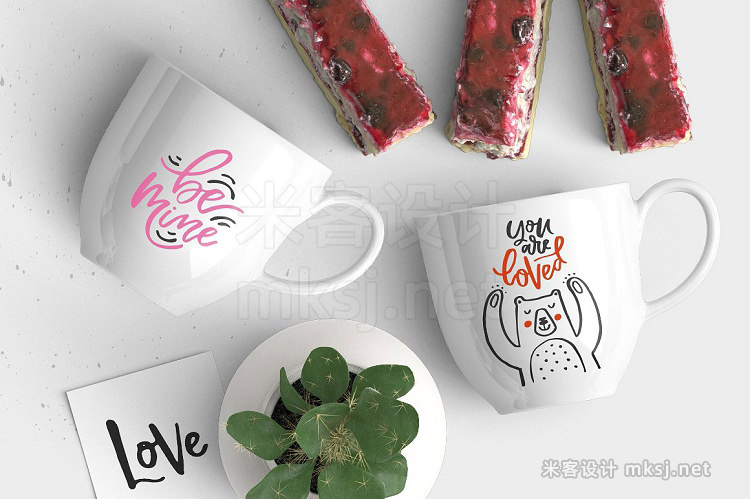 png素材 Valentine's Day Lettering Pack
