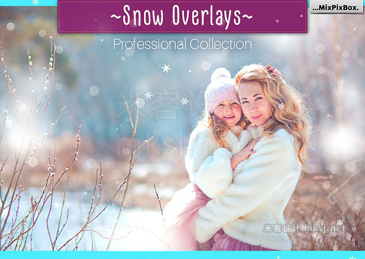 png素材 Natural Snow Overlays