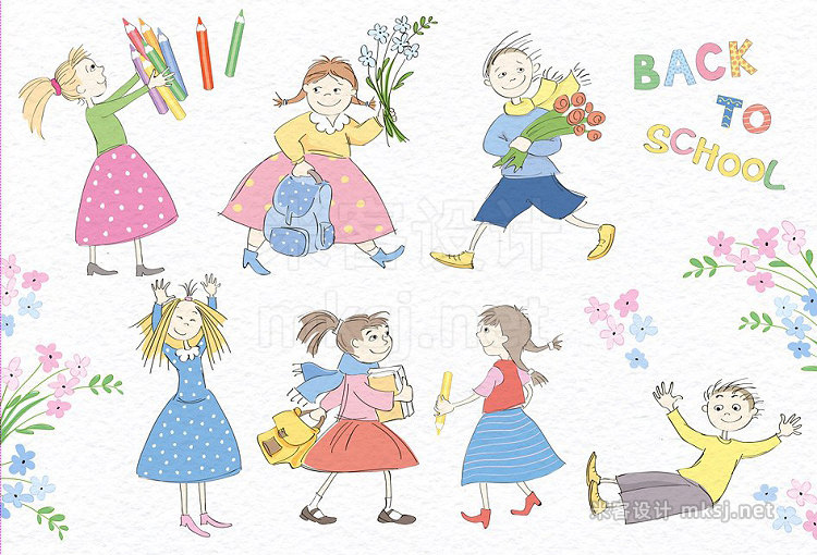 png素材 Children School Floral