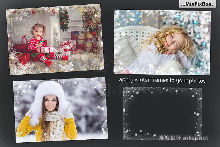 png素材 A big set of Winter Frames