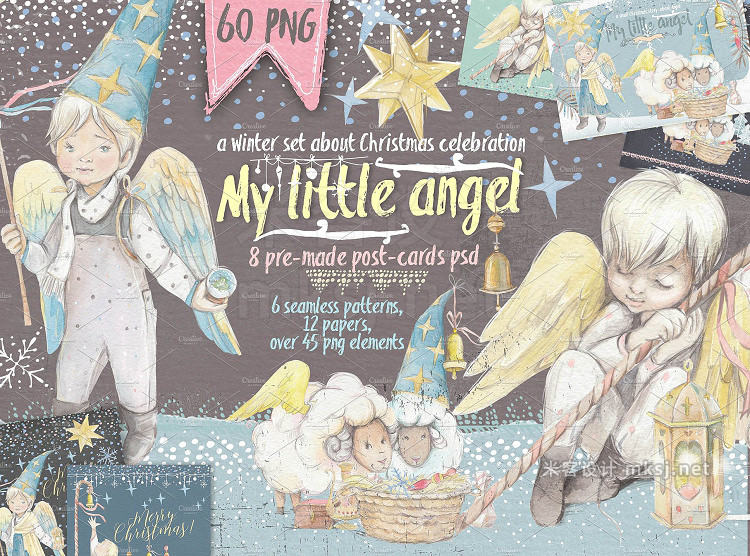 png素材 SALE Christmas set Little angel
