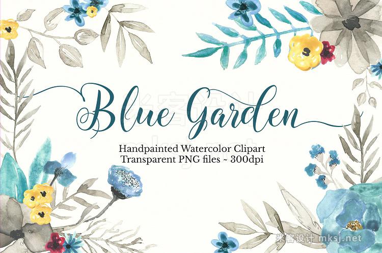 png素材 Watercolor Floral Clipart Set