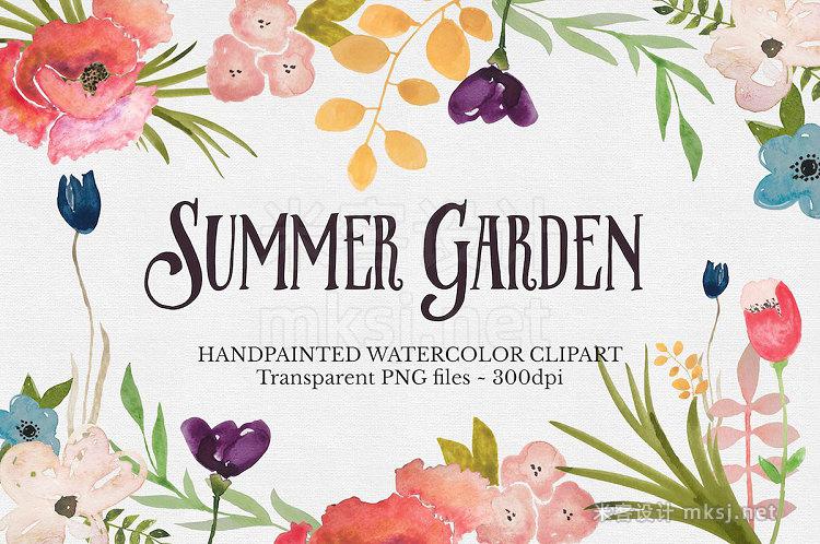 png素材 Watercolor Flower Clipart Set