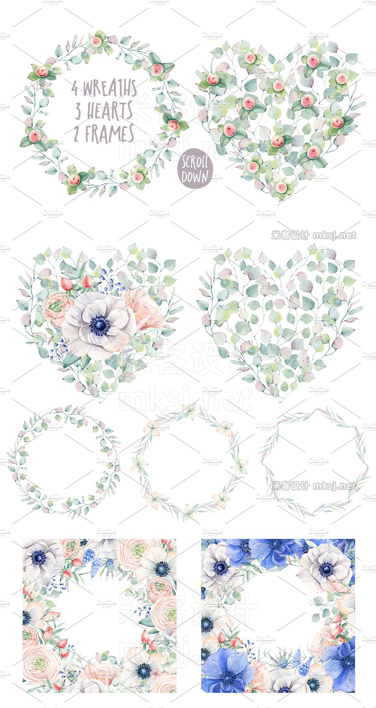 png素材 BLOOMING MYSTERY Watercolor set