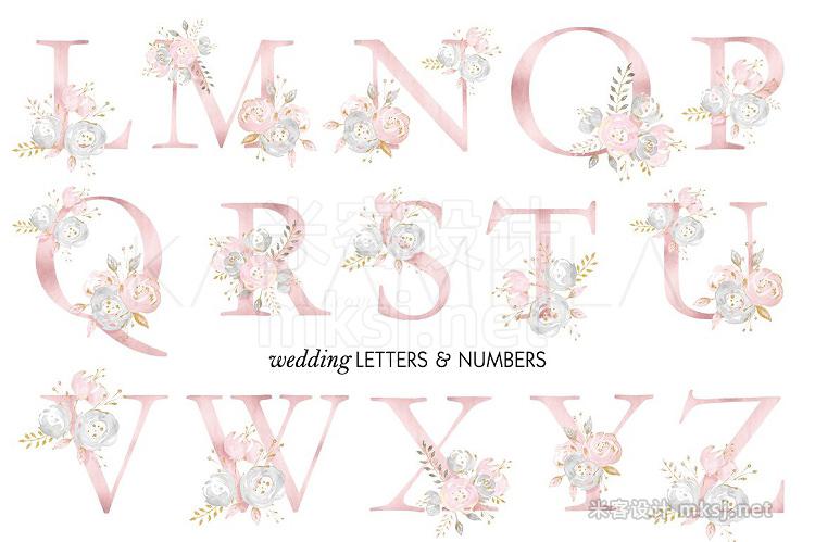 png素材 Wedding Alphabet Clipart