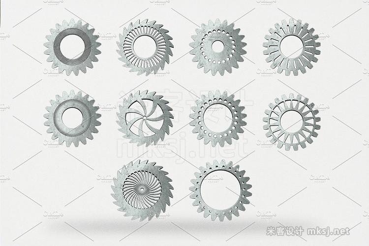 png素材 Vintage Cogwheels Bundle