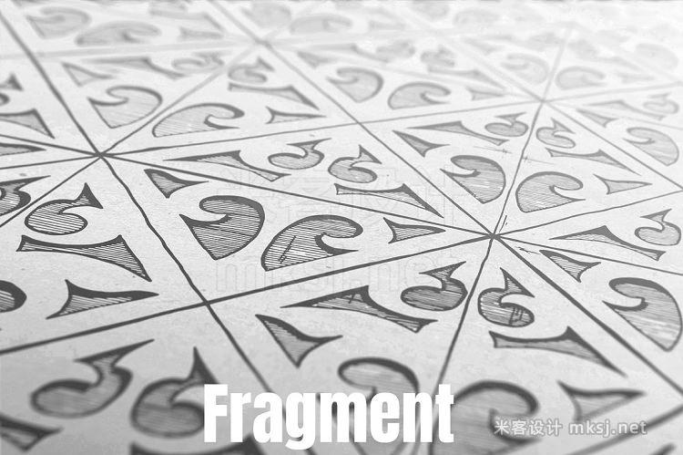 png素材 8 medieval seamless patterns