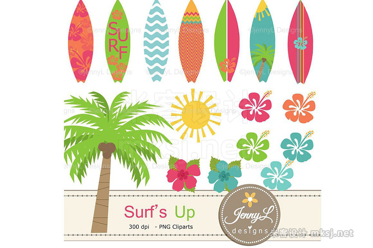 png素材 Surfing Digital Papers Clipart