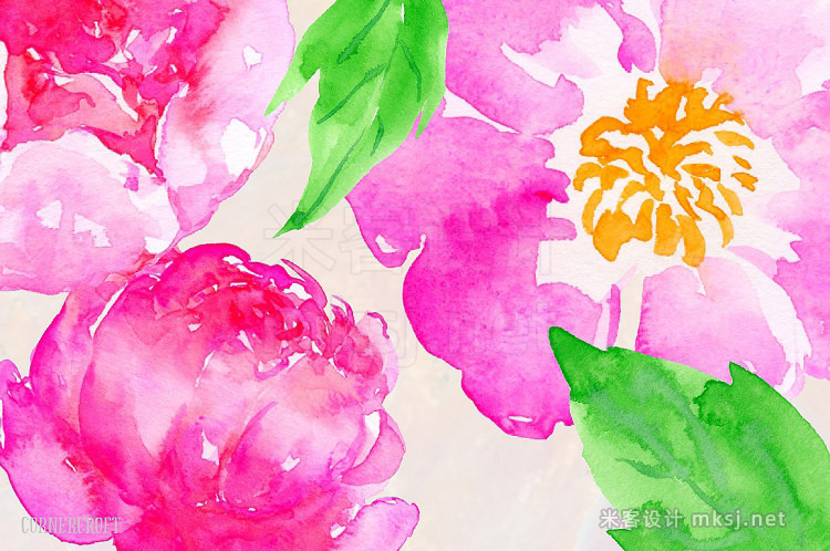 png素材 Watercolor Clipart Pink Electric