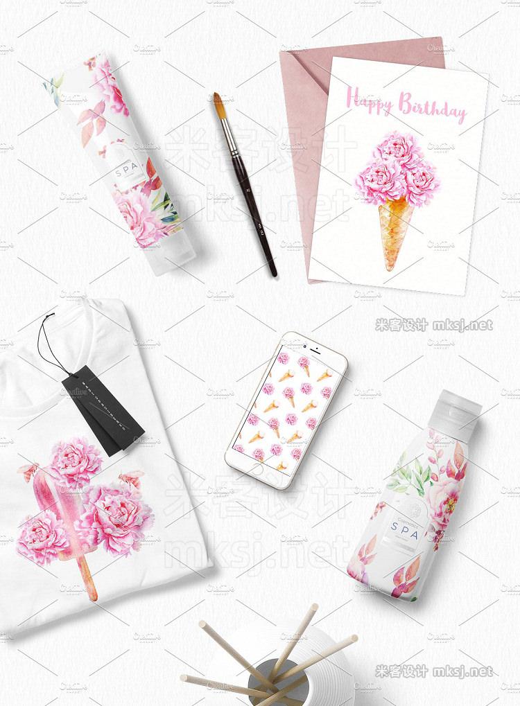 png素材 Watercolor Sweet Flowers