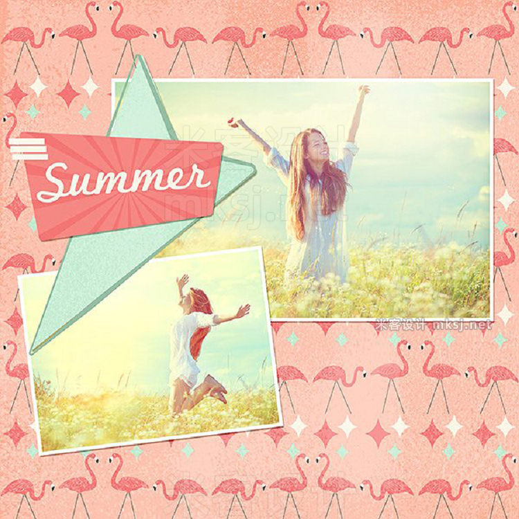 png素材 Kitschy Summer Digital Backgrounds