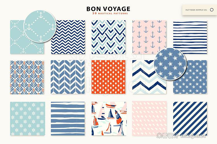 png素材 Bon Voyage Nautical Patterns