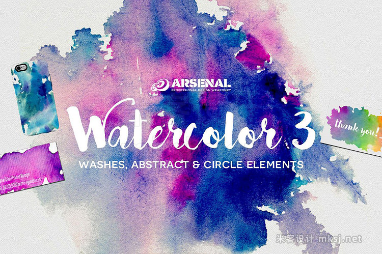 png素材 Watercolor Element Texture Pack