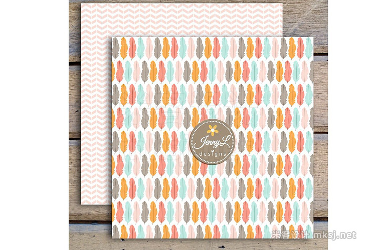 png素材 Pastel Boho Digital Papers Clipart