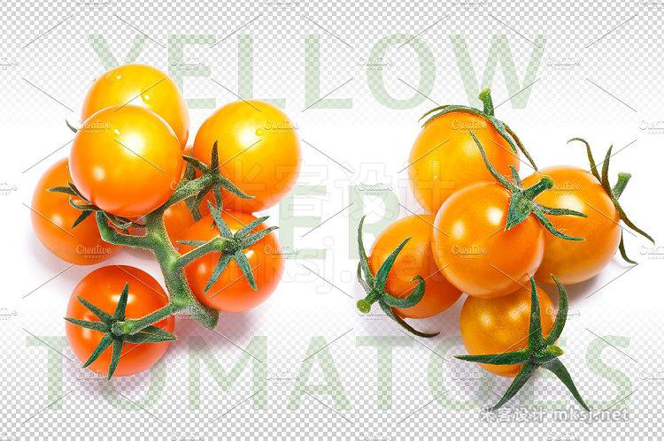 png素材 Yellow cherry tomatoes