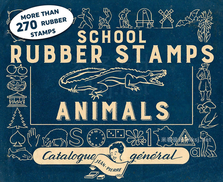png素材 RUBBER STAMPS  ANIMALS  2 BONUS