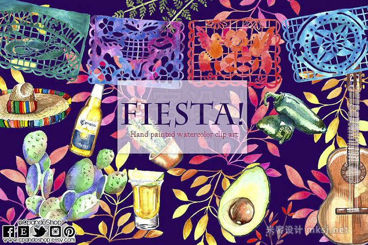 png素材 Mexican Fiesta watercolor Clip art