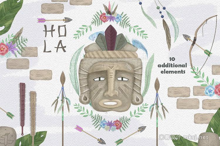 png素材 Aztecs Graphics Tribal Set