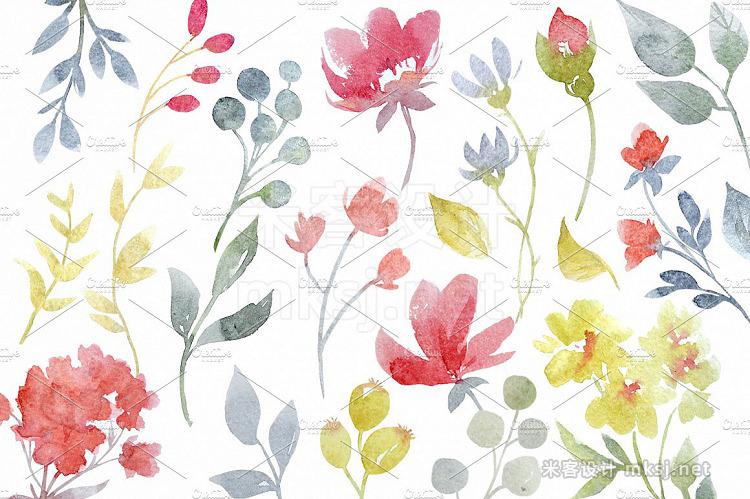 png素材 Watercolor set Dream Rose