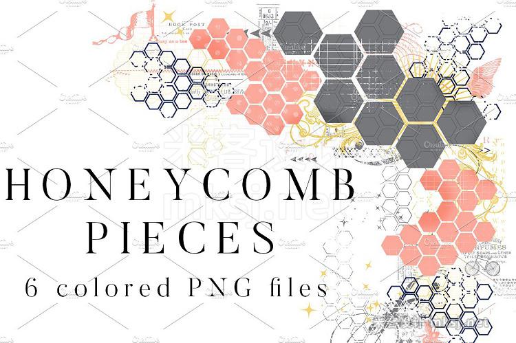 png素材 Honeycomb Pieces