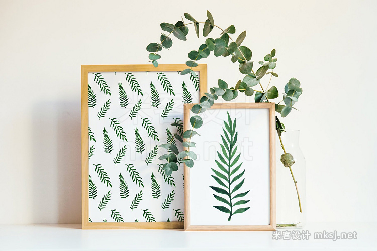 png素材 Leafy Patterns Watercolor