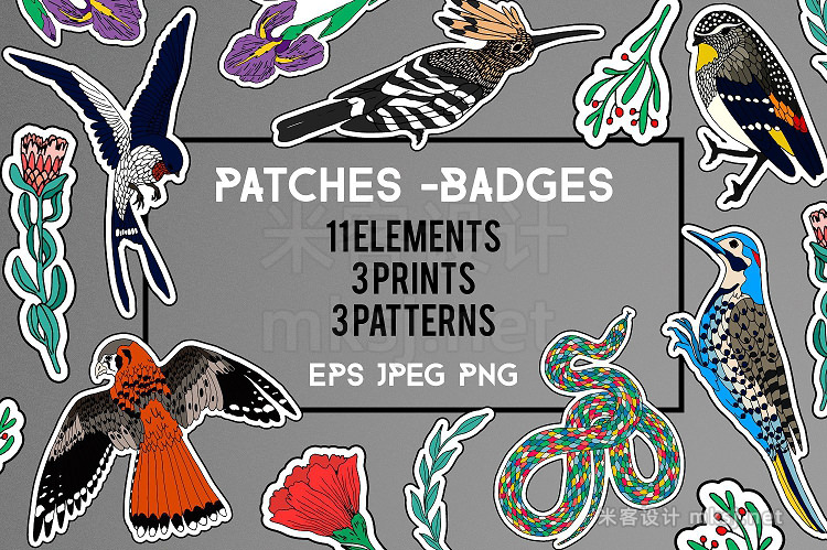 png素材 11 Patches  3 Prints  3 Patterns