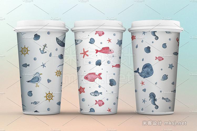 png素材 Sea dreams Nautical watercolor set