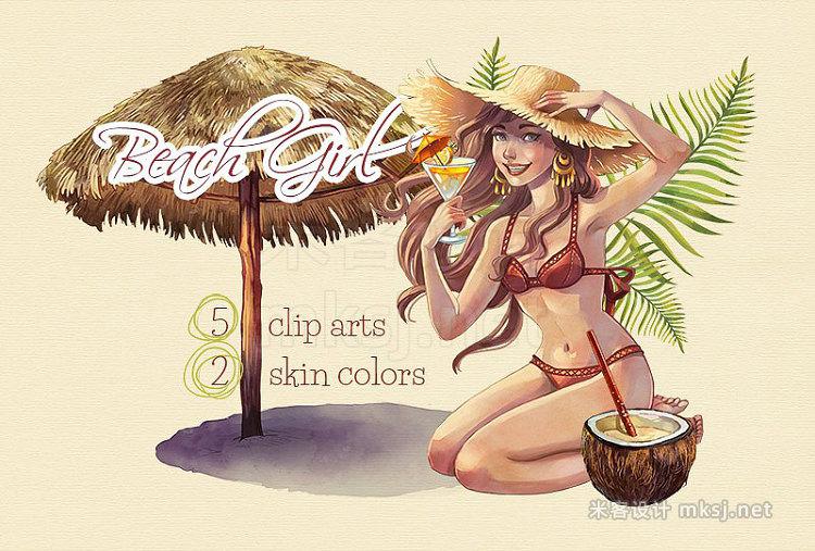 png素材 Beach Girl Summer Clip Arts