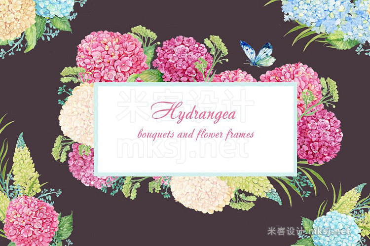 png素材 hydrangea watercolor clipart