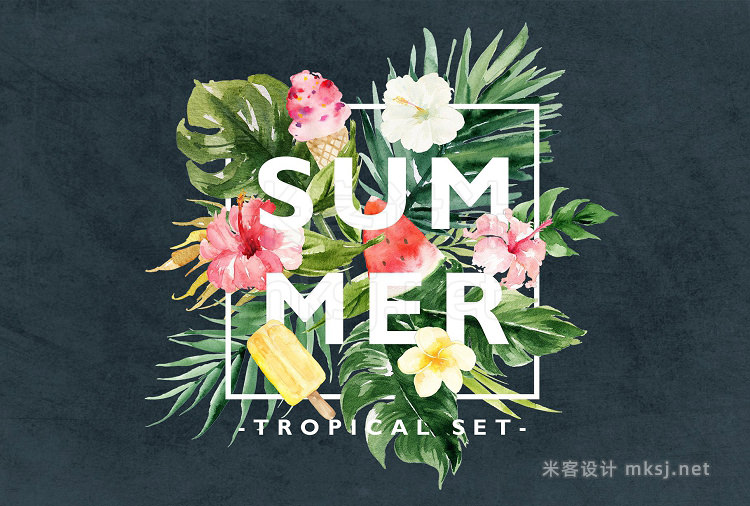 png素材 Summer Design Set-Tropical