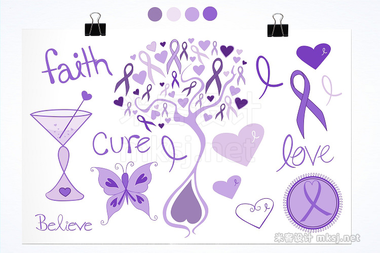 png素材 Find a cure illustration pack
