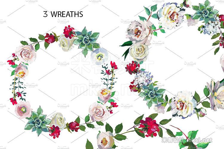 png素材 Grace Wedding Floral Design Set