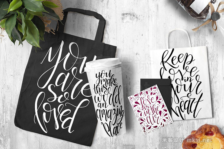 png素材 9 hand lettering Quotes about love